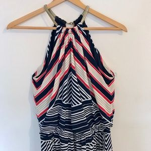 Nautical Striped Maxi Dress Size S